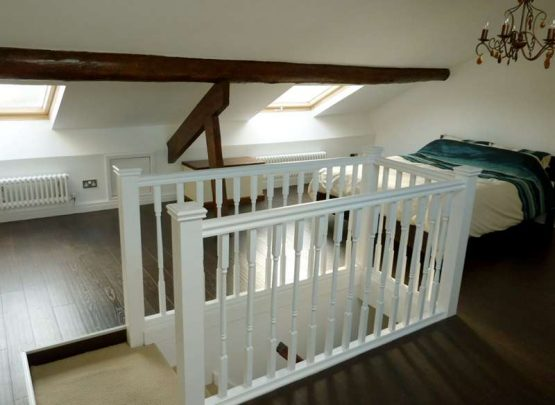 stairs into loft conversion bedroom
