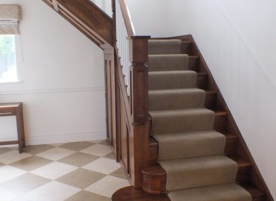 Walnut, White Spindles carpet runner