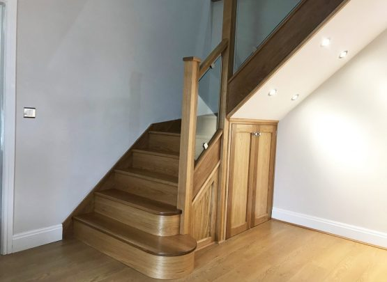 Oak Glass Staircase