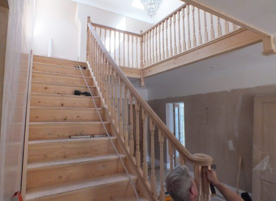work in progress staircase