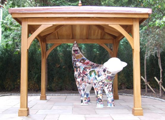 outdoor timber gazebo, lambanana