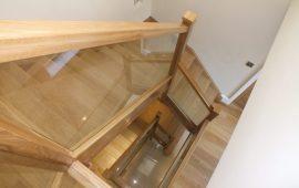 hardwood glass staircase, loft staircase